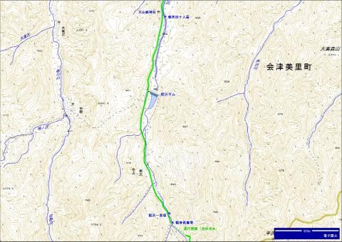 会津西街道 栃沢