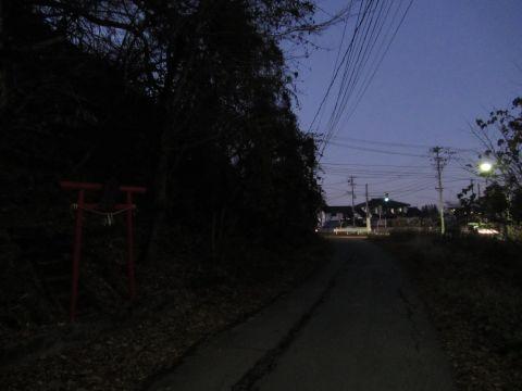 会津西街道旧道 蛇の宮神社前