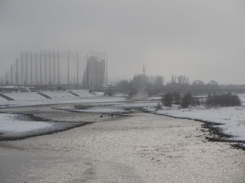高田橋より阿賀川を望む