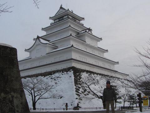 会津鶴ヶ城にて