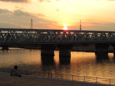 市川橋とスカイツリー