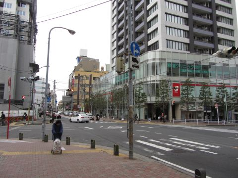 成田街道・木下街道の分岐点