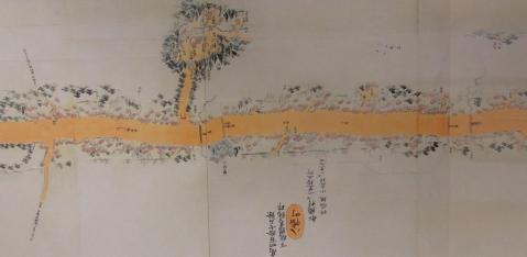 水戸街道分間延絵図 八幡町