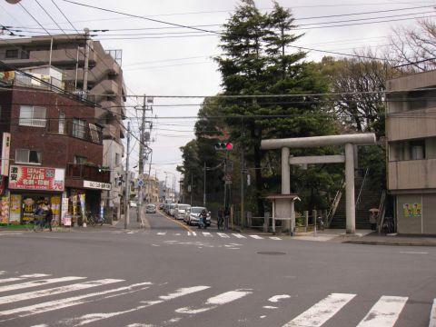 成田街道旧道 大神宮前追分