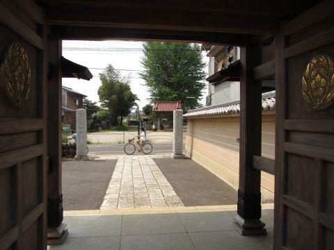 長妙寺から円光院を望む