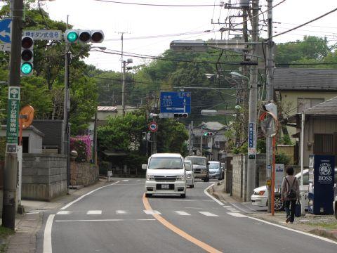 成田方より中宿交差点を望む