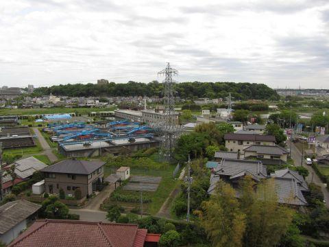 角来八幡神社より佐倉城址を望む