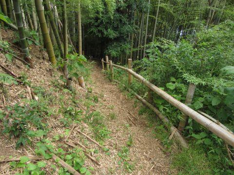 妙見神社から城内へ通じる道
