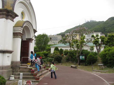 ハリストス正教会と函館山