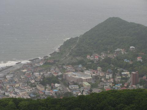 函館山展望台より立待岬を望む