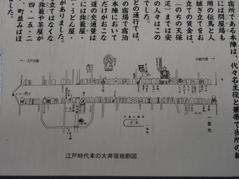 江戸時代末の大井宿地割図