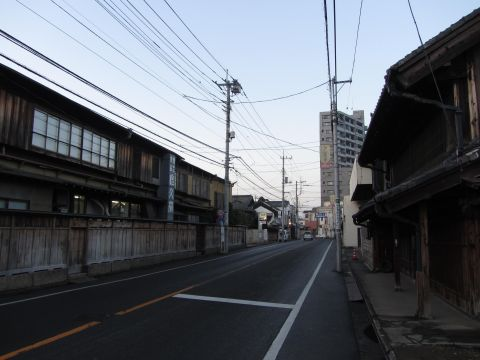 旧川越街道 松江町