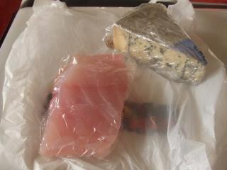 ブルーチーズと鯛!