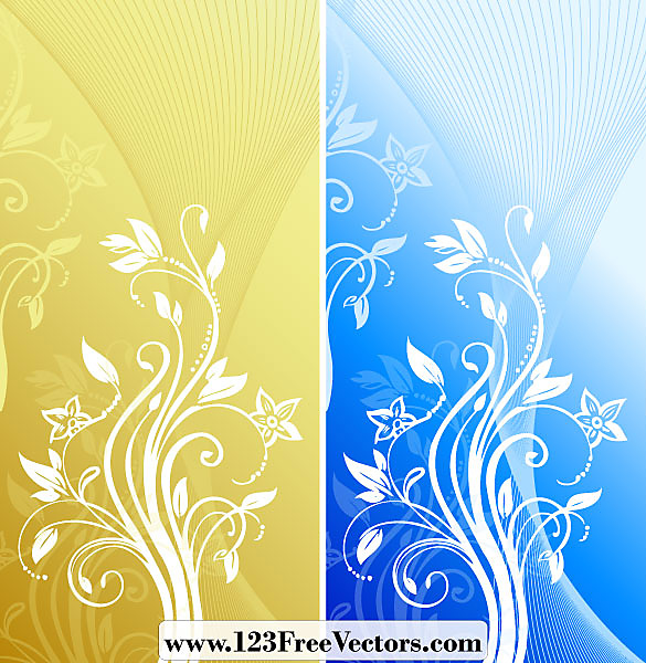 抽象的な花の背景 Abstract Floral Background Vector 1