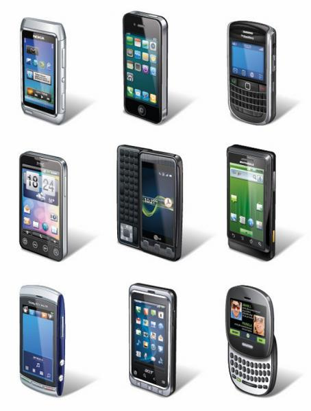 Smartphones Vector Set