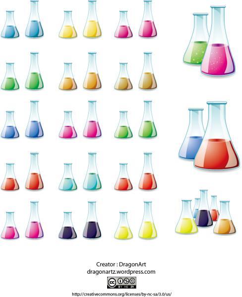 Vector - Glass Lab Bottle by DragonArt