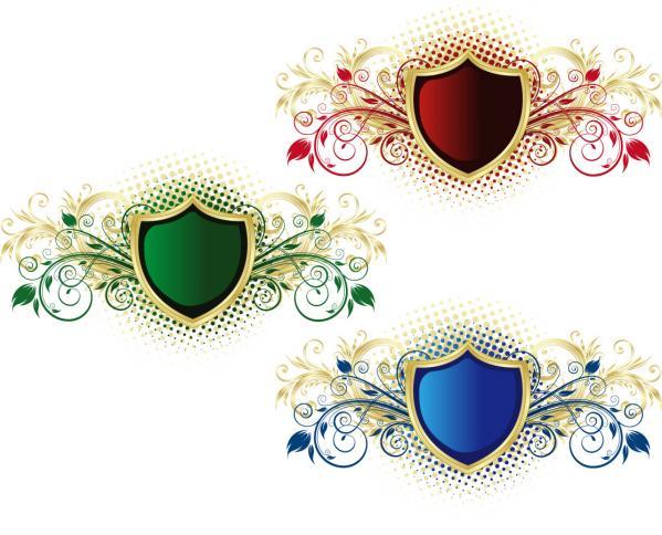 Vector Floral Shield