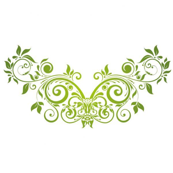 Vector Swirl Floral Design Elemen