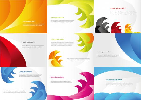 Various Color Business Cards Vector