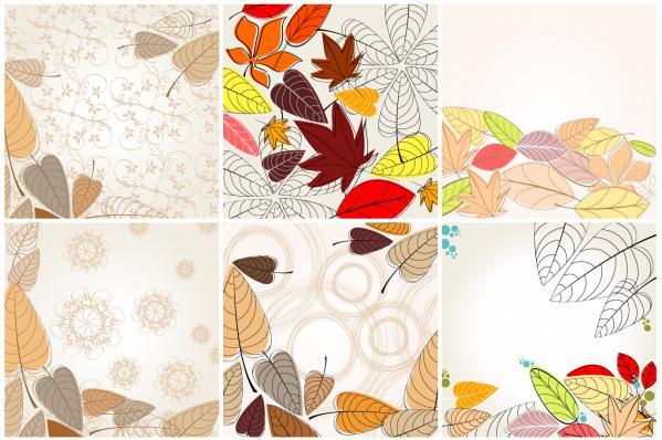 色付いた葉の背景 Autumn Leaves vector
