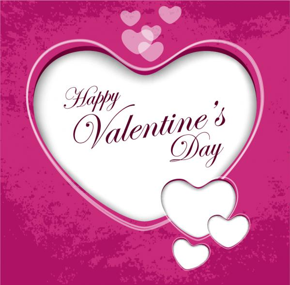 ハートのバレンタイン グリーティングカード Valentined Greeting Card