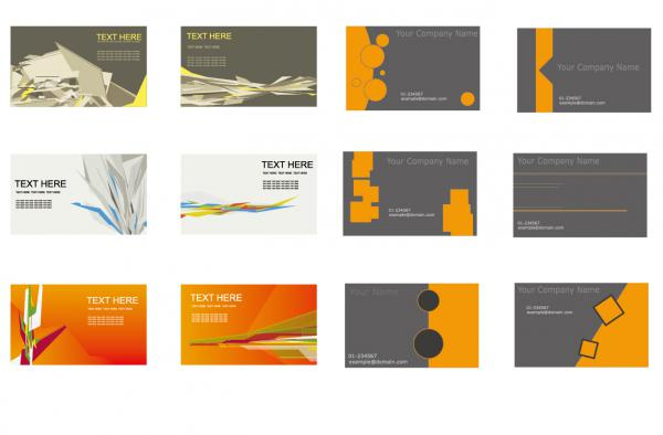 名刺テンプレート Set of Business Cards Vector