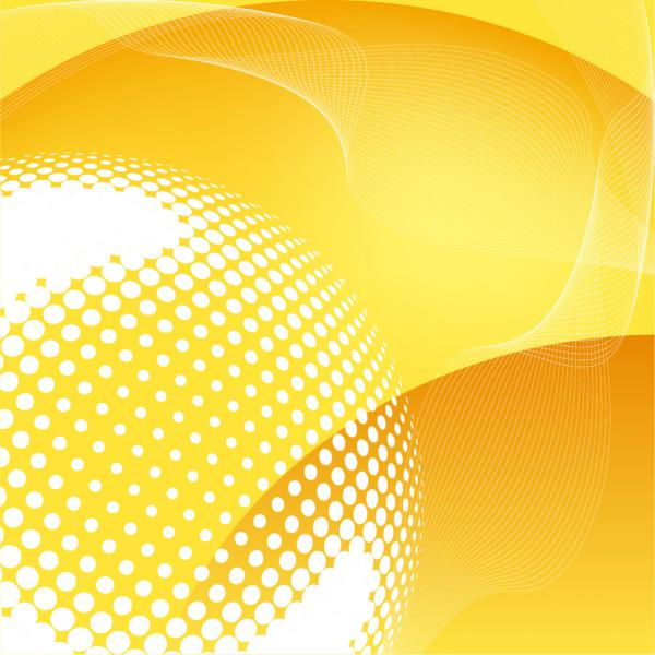 黄色を基調にした背景 Abstract Yellow Vector Background