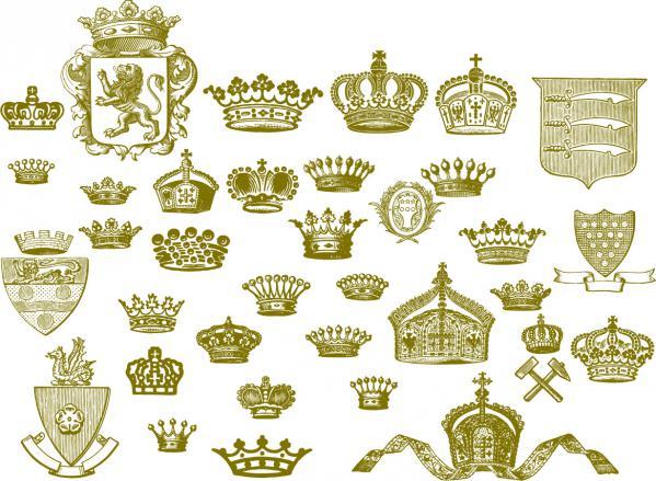 ヨーロッパの王冠の形状 european crown series