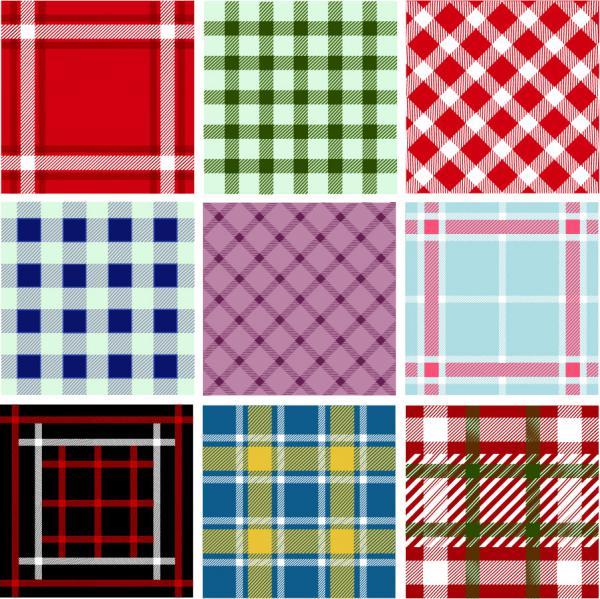 シームレスなパターン見本 Collection of Seamless Plaid Patterns