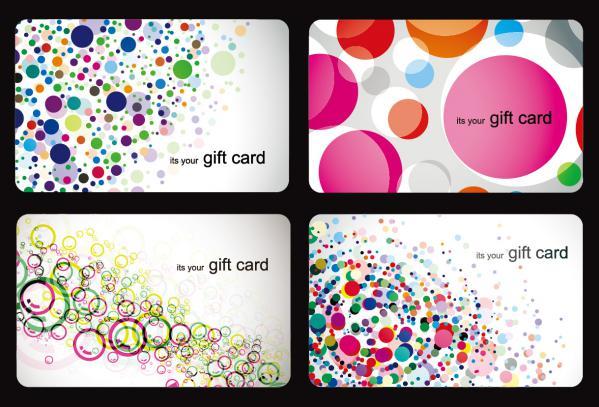 モダンなギフトカード テンプレート Modern Gift Card Templates Vector Set