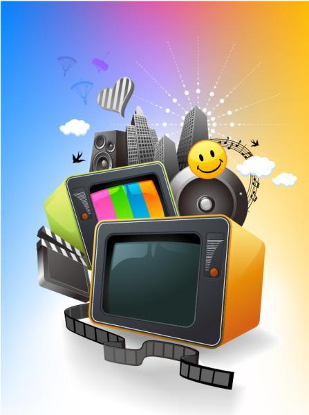 エンターテイメント メディアのイラスト Entertainment media vector graphic