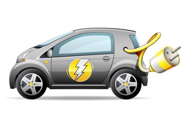 コンパクトな電気自動車 Compact electric car vector graphic