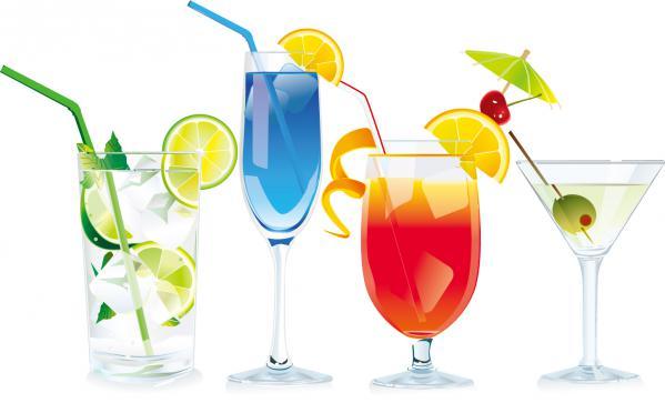 四種類のカクテルのイラスト Cocktails vector graphic