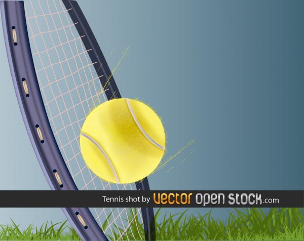テニス ショットのイラスト Tennis Shot vector graphic