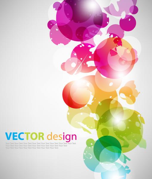サークルの色が重なる背景 Multicolour vector background