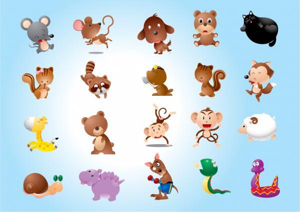 動物のキャラクター漫画 Animal Characters Vectors