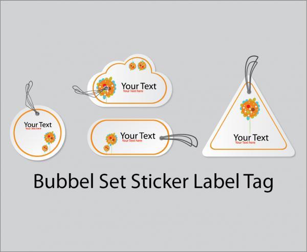 ステッカーとラベル タグ Sticker Set Label Tag