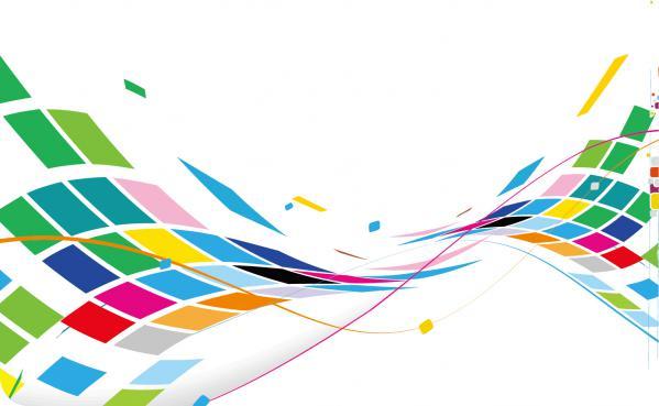 カラフルな四角形が波打つ背景 Abstract Wavy Design Colorful Background