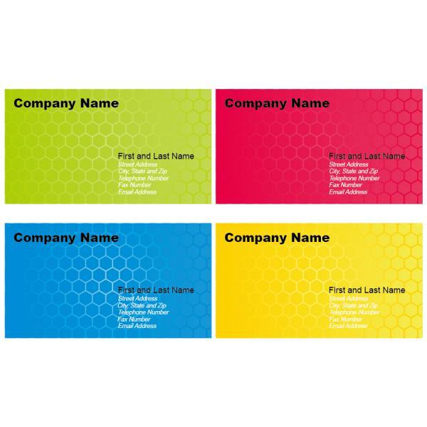 四色の名刺テンプレート Set of Business Card Designs