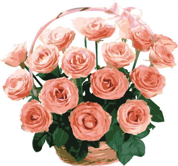 美しい薔薇の花束 ROSE BOUQUET VECTOR