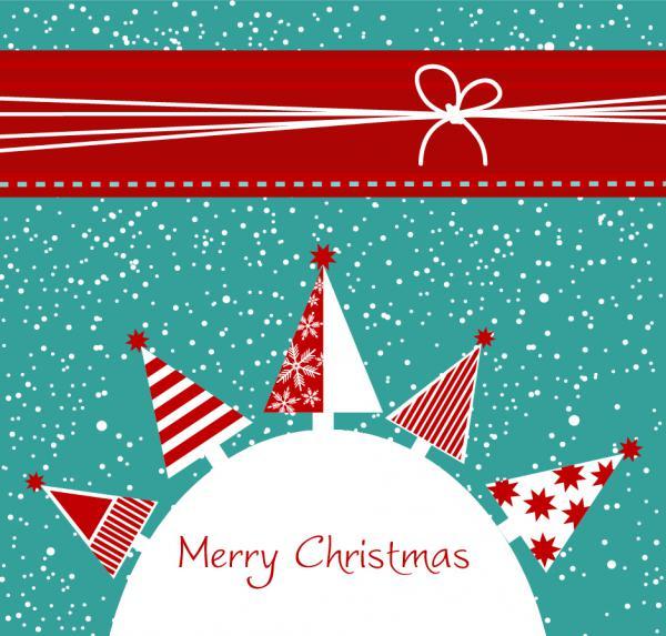 漫画風デザインのクリスマス・ツリーの背景 CARTOON CHRISTMAS BACKGROUND