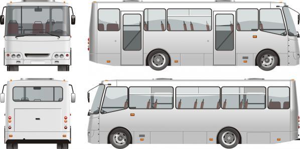 大型観光バス bus vector material_03