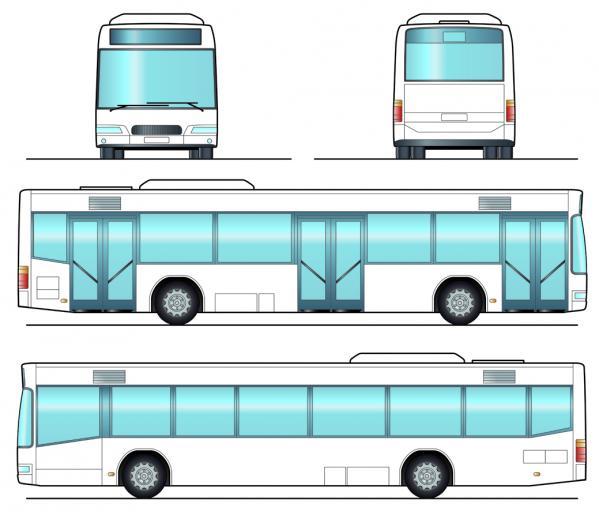 大型観光バス bus vector material_04