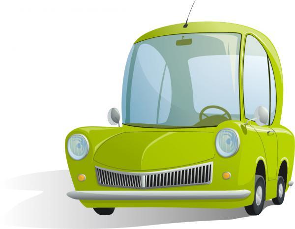 漫画風の洒落た自動車のイラスト CARTOON CAR ILLUSTRATIONS