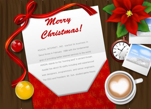 クリスマス・カードのデスクトップ desktop christmas card vector