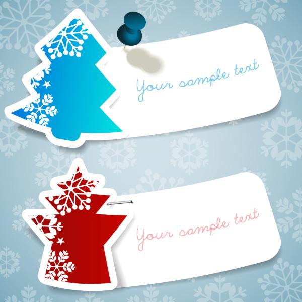 クリスマス・ツリーに雪が舞うステッカー CHRISTMAS SNOWFLAKE STICKERS