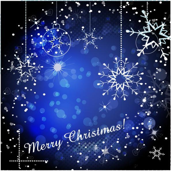 雪の結晶を模したクリスマスボールの背景 THE GORGEOUS CHRISTMAS BACKGROUND