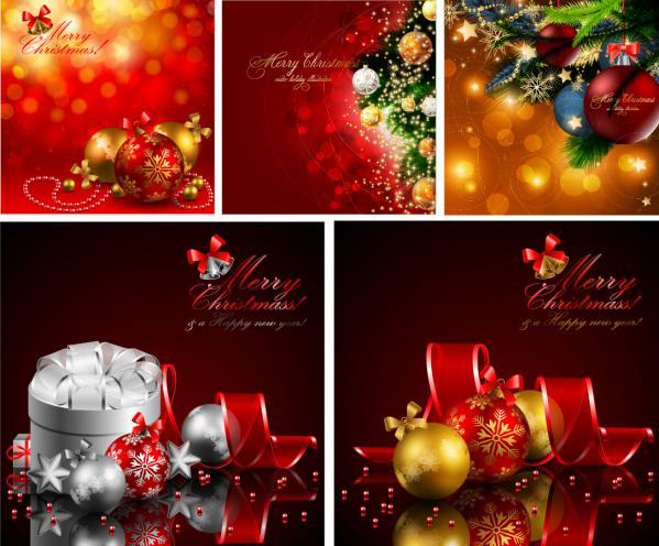 光り輝くクリスマス飾りのイラスト SUPER NICE CHRISTMAS VECTOR