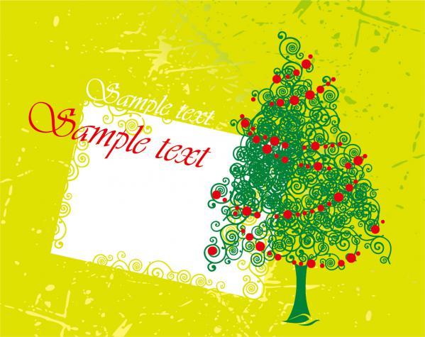 クリスマスを表現した6種類の背景  Santa Claus  tree, Christmas material 3