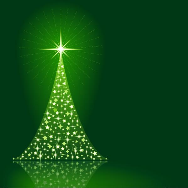 クリスマスを表現した6種類の背景  Santa Claus  tree, Christmas material 4